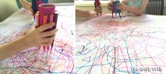 toilet roll scribble art activity for kids