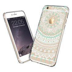 Coque iPhone 6,ESR Etui Coque Etui Housse Souple de protection Coque Case [absorbant les chocs][Anti-rayures] avec Lanière Pour iPhone 6 4,7 pouce - Totem Series Mint Mandala: Amazon.fr: High-tech