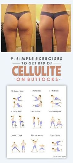 With the help of the diagrams, we have shared the most important exercises which you need to do so as to have a cellulite free body. So start doing them from today and in 2 weeks only have a cellulite free body.