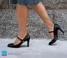 Bike to work on high heel shoes - you know this mark so well, ladies ;)