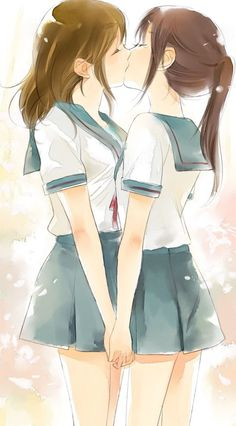 I've put this in the cute board because it is... I've had this picture for several years and adore it. It isn't sexual to me at all but so innocent, dreamy, cute and pretty. I wish I could be 14 or 15 again and enjoy my first kiss.  Also, of course, Japanese schoolgirls. Mm.