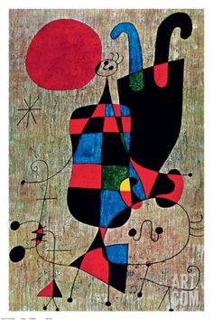Inverted Art Print by Joan Miró at Art.com
