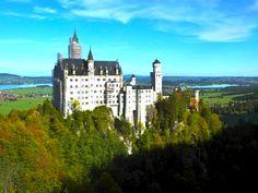 Schloss Neuschwanstein,Walt Disney Castle inspiration #fusen #Germany