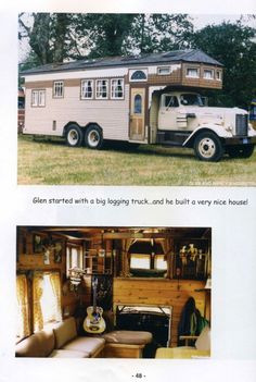 A house truck with all the comforts of home.