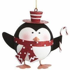 Scarfed Penguin Ornament Pier 1:  Christmas wish list!  He matches my other penguin ornament from last year!