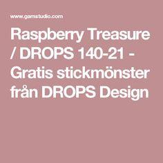 Raspberry Treasure / DROPS 140-21 - Gratis stickmönster från DROPS Design