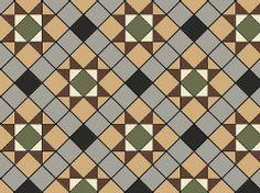 Original Style Blenheim Victorian Tile Design - Grey/Buff/Black/Green/Brown/White