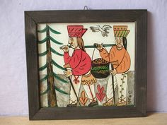 vintage folk art painting signed Poland 1980 by ShoponSherman, $39.00 Bird Tree, Types Of Art, Painted Signs, Poland, Folk Art, Retro Vintage, Paintings, Rustic, Teaching