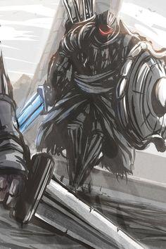 Rooftop Pursuer (Dark Souls 2). by Paper-pulp