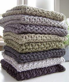 Halager: DIY - Endnu en karklud i mønsterhækling Crochet Towel, Crochet Dishcloths, Diy Crochet, Knitting Projects, Crochet Projects, Crochet Kitchen, Textiles, Knitted Blankets, Loom Knitting