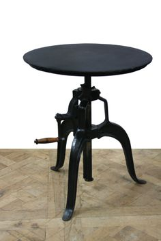 This beautiful and elegant #industrial table is adjustable and fantastic for a variety of uses! www.antiquesdirect.ca