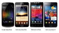 Check Out the Comparison Between Galaxy Nexus Vs Galaxy Note Vs Droid Razr Vs Galaxy S II :-)