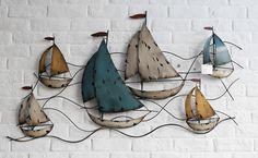 Vintage Iron Sailboat Wall Decoration @ http://fvvdecor.com/products/vintage-iron-sailboat-wall-decoration