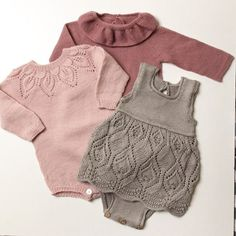 Lovely clothes for girl, knitted by # leneholmesamsøe – Sylvie Painchaud – Join the world of pin Baby Knitting Patterns, Knitting For Kids, Baby Patterns, Knitted Baby Clothes, Cute Baby Clothes, Baby Girl Fashion, Kids Fashion, Body Baby, Diy Bebe
