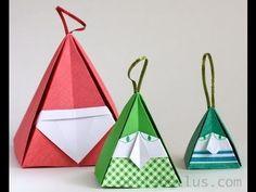 Videoanleitung für  Weihnachts-Origami: Weihnachtsmann- oder Elfen-Verpackung von artisbellus (gefaltet von Maarcela Brina) auf YouTube