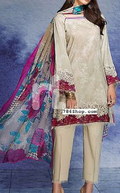 Beige Cambric Suit | Buy Sawan By Nishat Pakistani Dresses and Clothing online in USA, UK