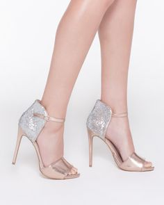 "gold and ""diamond"" heels"
