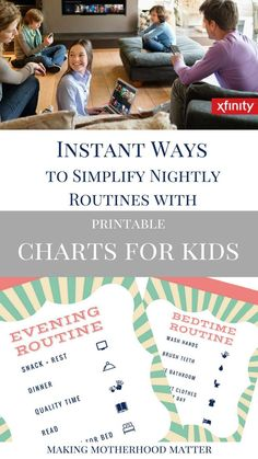 Making the most of the evenings as a family is important, instantly simplify your evenings and nightly routines with these printable charts for kids.