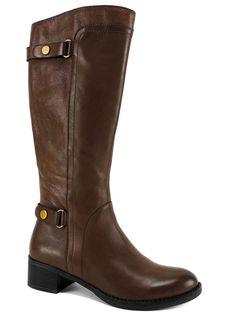 Franco Sarto Women's Crash Tall Riding Boots Acorn Brown Leather Size 8.5 (B, M) #FrancoSarto #FashionKneeHigh #CasualorDreeeRiding