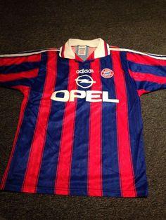 9f0e81f30 Rare Retro Bayern Munich Home Football Shirt 1997-98 Season by Adidas -  Small Football