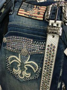 Custom Swarovski Crystal Laguna Beach Jean Co. Jeans and Belts - For Inquiries: info@lbjcdenim.com #rocktheoclifestyle