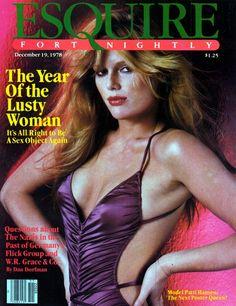 Patti Hansen on the cover of Esquire, 1978.