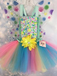Rainbow  Bubbles Fairy tutu dress fits 2T-3T ONLY 1 #PjsDreams #Dress
