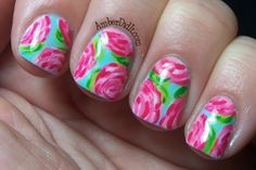 lily pulitzer nails!!!!!!