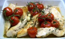 Chicken With Thyme and Tomatoes Recipe