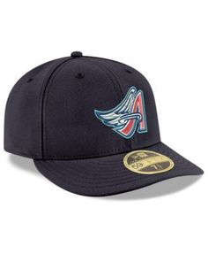 New Era Los Angeles Angels Cooperstown Low Profile 59FIFTY Fitted Cap -  Blue 7 3  0fec09e05