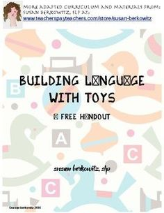 Building Language with Toys is meant to be a starting point for knowing how to use toys to build your childs language.The old-fashioned, pre-technology toys are often some of the best toys for developing language skills, because they are more open ended and require some action or interaction.The examples provided list ideas for building receptive language (understanding) and expressive language (spoken output or use of AAC system)The following are covered: What type of toys to buy/use, how…