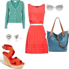 Eye-catching summer outfit