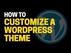 WordPress Theme Customization  How to Customize a WordPress Theme - https://www.howtowordpresstrainingvideos.com/wordpress-training-videos/wordpress-theme-customization-how-to-customize-a-wordpress-theme/