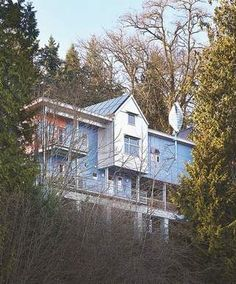 """The Shireys call their Bellevue, Wash., home, designed by architect David Clinkston, """"the Zero Energy Idea House."""