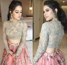 Shadi Dresses, Indian Gowns Dresses, Indian Fashion Dresses, Dress Indian Style, Indian Designer Outfits, Prom Dresses, Fancy Blouse Designs, Stylish Dress Designs, Saree Blouse Designs