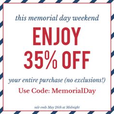 a8e164b9244d Long weekends were made for shopping! This Memorial Day Weekend