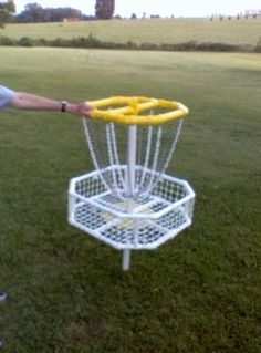 Homemade Disc Golf Target - Disc Golf Course Review