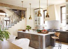 Kitchen. Mediterranean Kitchen Design. Interior Design by Beth Webb Interiors.