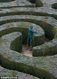 Didn't you ever wonder how mazes are kept pruned .. without the gardeners getting lost in their work??