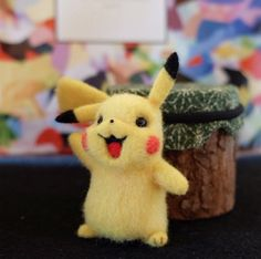 Cute Needle felted wool animals pets pokemon go Pikachu(Via @xuehan_cheng)