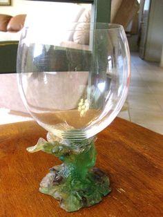 "daum crystal | RARE DAUM ART GLASS PATE DE VERRE BACCHUS 6 1/2"" WATER ... | Daum Cry ..."