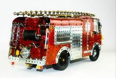 Karrier Gamecock Water Tender (OSR) built in Meccano (40 pieces)