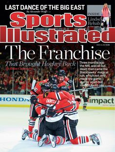 Cover boys. The #Blackhawks are on the national cover of Sports Illustrated!