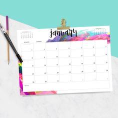 2018 printable calendars: Free Printable Calendar by Oh So Lovely 2018 Calendar Printable Free, Make A Calendar, Today Calendar, Calendar 2018, Printable Planner, Free Printables, Printable Lables, Monthly Planner, College Planner