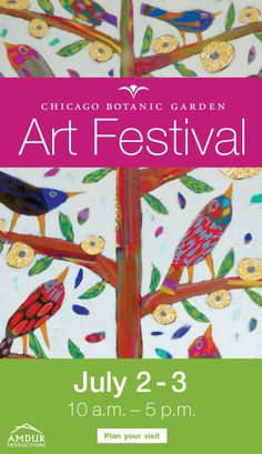 Art, jewelry, crafts, and beautiful photography prints at the annual Chicago Botanic Garden Art Festival. Event features interactive art demos, and fun kids activities July from - Chicago Botanic Garden, Interactive Art, Fun Activities For Kids, Art Lesson Plans, Art Festival, Elementary Art, Art Fair, Love Art, Botanical Gardens
