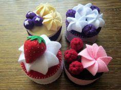 Resultado de imagen para felt cupcakes