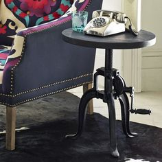 Crank Side Table - Side Tables - Tables - Furniture