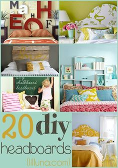 20 DIY Headboards to
