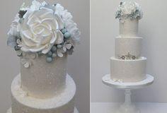snowflake wedding cake by Scrumdiddly UK