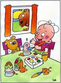 Peaske, pasen: nêst kleurje